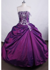 Luxurious Ball gown StraplessFloor-length Quinceanera Dresses Embroidery