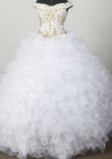 Elegant Ball Gown Off The Shoulder Neckline Floor-length Quinceanera Dress