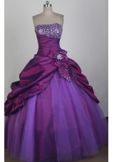Classical Ball Gown Strapless Floor-length Quinceanera Dress