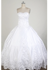Exclusive Ball Gown Sweetheart Neck Floor-length White Quinceanera Dress