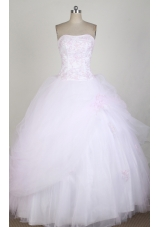 Romantic Ball Gown Strapless Strapless Floor-length Pink Quinceanera Dress LZ426012