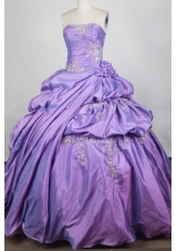 Exclusive Ball Gown Strapless Floor-length Lavender Quinceanera Dress