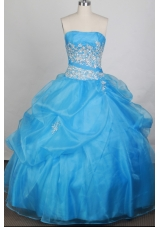 Cheap Ball gown Strapless Floor-length Quinceanera Dresses