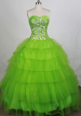 Discount Ball gown Sweetheart-neck Floor-length Quinceanera Dresses