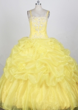 Popular Ball gown Strap Floor-length Quinceanera Dresses