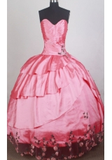 Romantic Ball Gown Sweetheart Neck Floor-length Quinceanera Dress