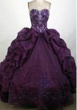 2012 Unique Ball Gown Sweetheart Floor-Length Quinceanera Dress