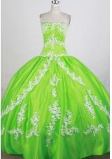 Luxurious Ball Gown Strapless Floor-length Quinceanera Dress