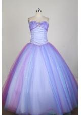 Popular Ball Gown Strapless Floor-length Lilac Quinceanera Dress