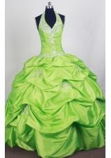 Perfect Ball Gown Halter Top Floor-length Quinceanera Dress