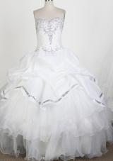 Popular Ball Gown Sweetheart Floor-length Quinceanera Dress