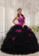 Colourful Puffy Halter Ruffled Layers 2014 Spring Quinceanera Dresses