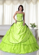 Discount Strapless Quinceanera Gown Dresses with Flowers
