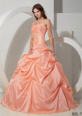 Elegant Sweetheart Cheap Quinceanera Dresses Gowns with Beading