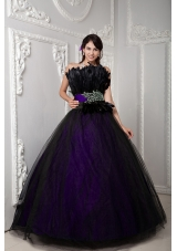 Puffy Beading and Feather for 2014 Spring Quinceanera Dresses