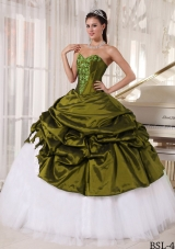 Puffy Sweetheart Sweet Sixteen Dresses with Appliques and Pick-ups