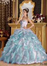 2014 The Super Hot Puffy Sweetheart with Appliques Quinceanera Gowns