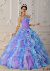 Modest Multi-Color Puffy Strapless Ruffles Quinceanera Dresses for 2014