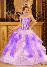 Multi-Color Puffy Sweetheart Appliques for 2014 Quinceanera Dresses