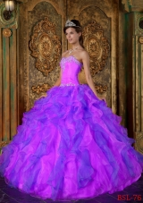 Princess Sweetheart Appliques and Ruffles 2014 Quinceanera Dresses
