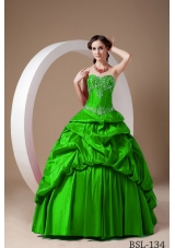 Lovely Princess Sweetheart with Pick-ups and Appliques Quinceanera Dresses for 2014