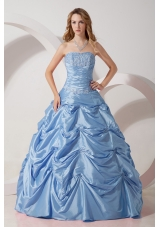 2014 Classical Princess Strapless Appliques Quinceanera Dresses with pick-ups