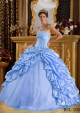 Gorgeous Puffy Pick-ups and Beading 2014 Quinceanera Dresses