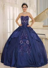 Discount Embroidery Pretty Quinceanera Dresses With Sweetheart