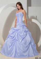 Puffy Sweetheart 2014 Beading Quinceanera Dresses with Pick-ups