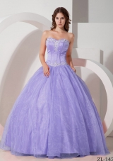 2014 Beautiful Puffy Sweetheart Appliques with Beading Quinceanera Dresses