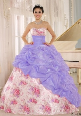2014 Printing Sweetheart Beading and Pick-ups Quinceanera Dresses For Custom Made