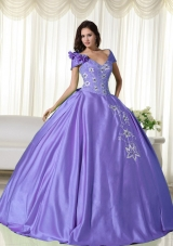 Beautiful Puffy Off the Shoulder Embroidery Quinceanera Dresses for 2014