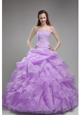 Exclusive Puffy Strapless Beading and Ruffles Quinceanera Dresses for 2014