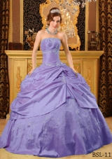 Lovely Puffy Strapless Pick-ups and Beading 2014 Quinceanera Dresses