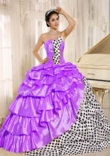 Popular Strapless 2014 Spring Quinceanera Dresses with Pick-ups