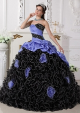 Puffy Sweetheart Beading and Rolling Flowers 2014 Quinceanera Dresses