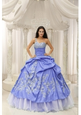 Romantic One Shoulder Embroidery Quinceanera Dresses for 2014