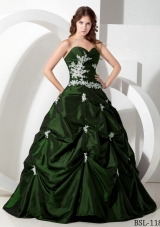 2014 Ball Gown Sweetheart Quinceanera Dresses with Appliques