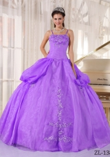 Ball Gown Spaghetti Straps Appliques and Pick-ups Quinceanera Dress 219.69