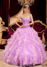 Ball Gown Sweetheart Beading Sweet Sixteen Quinceanera Dresses with Ruffles