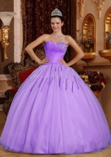 Popular Sweetheart Tulle 2014 Quinceanera Gowns with Sequins
