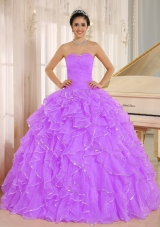 Beading and Ruffles Sweetheart Full Length Quinceanera Dress