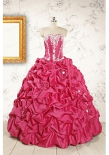 Cheap Ball Gown Sweetheart Quinceanera Dresses with Appliques