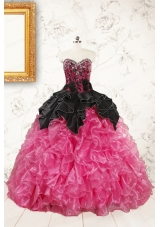 Trendy Multi Color Ball Gown Ruffled Quinceanera Dresses