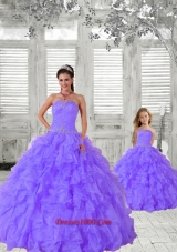 2015 Fashionable Beading and Ruching Lavender Princesita Dress