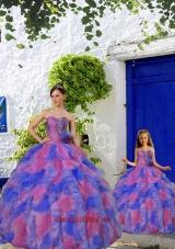 Fashionable Multi-color Princesita Dress with Beading and Ruffles