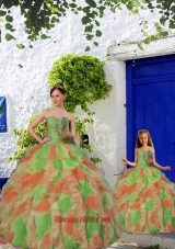 New Style Multi-color Princesita Dress with Beading and Ruffles