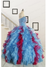Fashionable Beading Quinceanera Dresses in Multi-color For 2015
