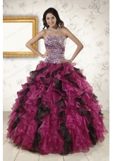 2015 Elegant Sweetheart Ruffles Quinceanera Dresses in Multi-color