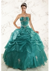 Cheap New Style Ball Gown Sweet 16 Dresses with Appliques